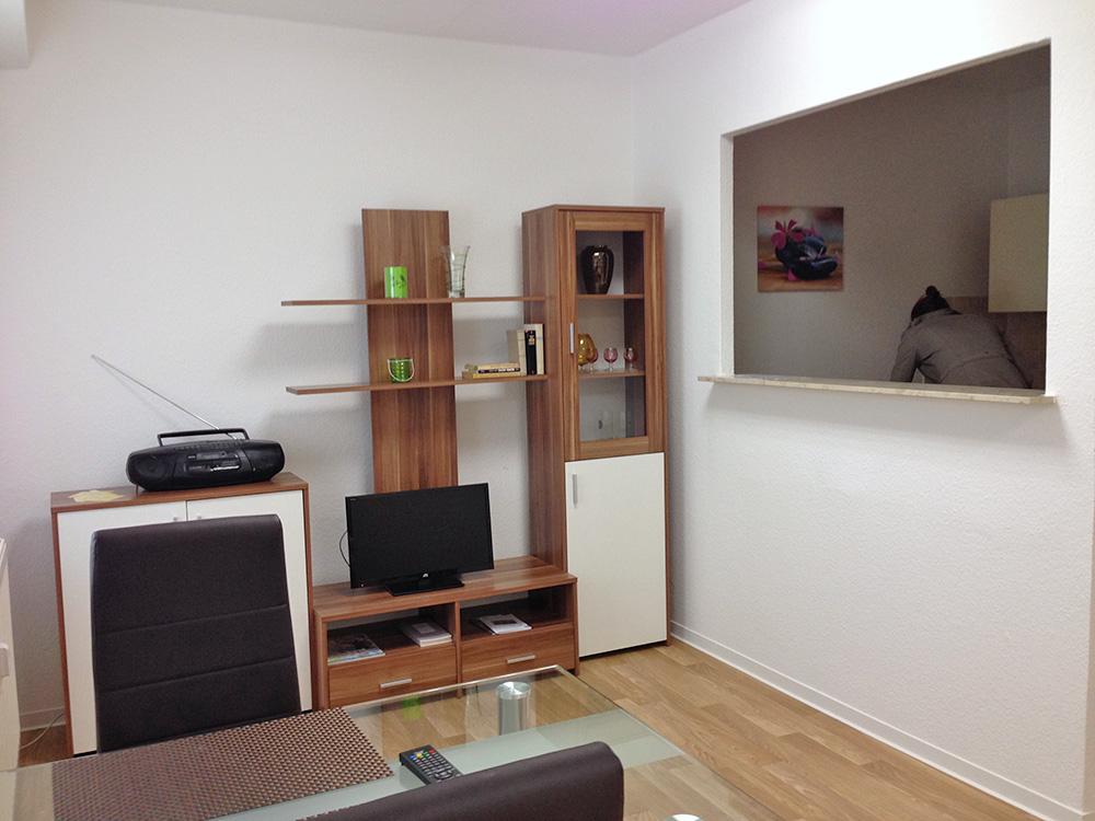 WoGe Süd eG - Wohnzimmer einer Gästewohnung